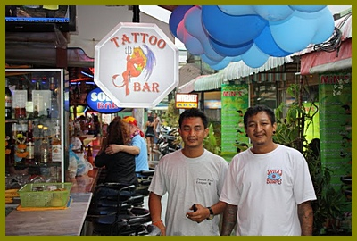 Patong tattoo bar owned by mit and wat from patong tattoo for Tattoo shop phuket